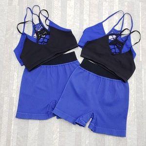 NWOT Free People workout bra and short set M/L